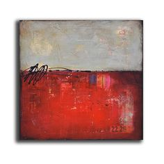 Urban Liner by Erin Ashley - mixed media abstract acrylic painting on 24x24x1.5 canvas