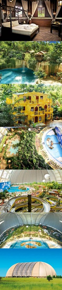 The Tropical Island Resort in Krausnick, south of Berlin. Largest indoor beach.