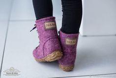 baa633d35 Купить Ботинки валяные зимние Amethyst - бордовый, аметист, аметистовый,  Валяные ботинки, ботинки для девочек