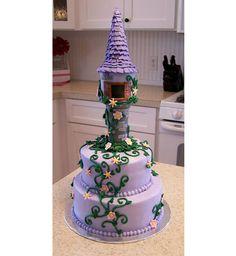 A creative and cute Tangled birthday cake! Pretty Cakes, Cute Cakes, Beautiful Cakes, Amazing Cakes, Rapunzel Torte, Bolo Rapunzel, Rapunzel Cake Ideas, Rapunzel Birthday Party, Tangled Party
