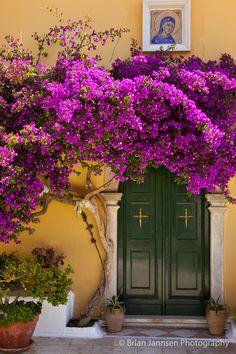 Greek Orthodox Monastery of the Virgin Mary in Paleokastritsa, Corfu Greece. © Brian Jannsen Photography
