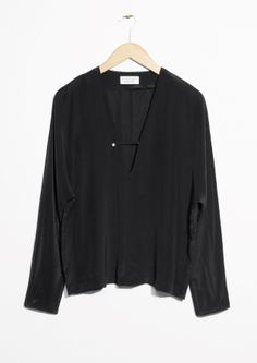 & Other Stories image 1 of Silk Blouse in Black