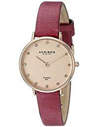 8267925f7706 Akribos XXIV Reloj con movimiento cuarzo japonés Woman 28 mm Relojes para  mujer  RelojesDeCuero