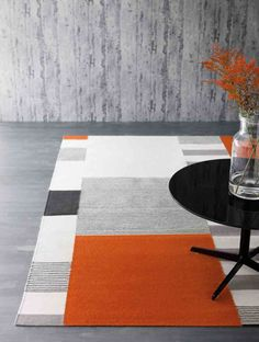 An original piece by Scandinavian rug specialists Linie Design, the Graphic is features a modern take on classic modernist style pattern, pairing the geometric forms with a colour palette more in keeping with today's interiors. Each rug is hand woven i