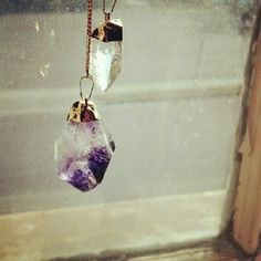 beautiful two piece pendant quartz