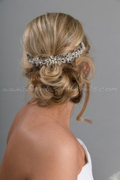 Bridal Hair Swag Pearl and Rhinestone by brendasbridalveils