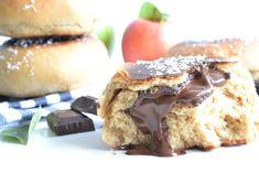 Recette de beignets sans friture au four. Beignets version saine sans sucres et sans lactose. Beignets fourrés chocolat ou pommes healthy