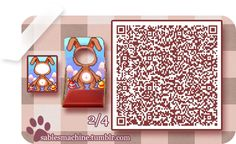 ACNL QR CODE-Bunny Standee