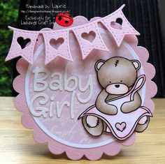 Good Morning Guys, I'm here today with a mid challenge reminder at LADYBUGS CRAFT INK our month long extravaganza continues to celebrat. Baby Girl Cards, New Baby Cards, Baby Shawer, Baby Kind, Ladybug Crafts, Baby Shower Invitaciones, Karten Diy, Shower Bebe, Baby Shower Cards