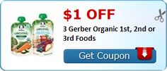 Tri Cities On A Dime: $1.00 COUPON ON 3 GERBER ORGANIC FIRST, SECOND, OR...
