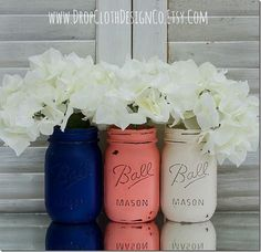 Painted & Distressed Mason Jars | Mason Jar Crafts Love