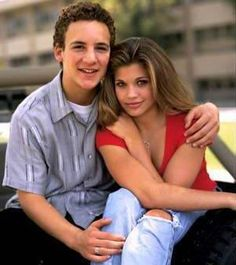 Boy Meets World Couple Cory Matthews and Topanga Lawrence-Matthews (played by Ben Savage and Danielle Fishel)