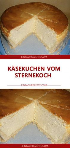 Cheesecake from the star chef 😍 😍 😍 - kuchen - cake recipes Easy Vanilla Cake Recipe, Easy Cake Recipes, Brownie Recipes, Cheesecake Recipes, Chocolate Recipes, Cookie Recipes, Dessert Recipes, Pear And Almond Cake, Almond Cakes