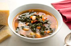 How To Cook » White Bean, Crispy Kale & Smoky Tomato Basil Soup | On The Grill | Recipes