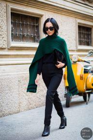 Milan Fashion Week SS 2016 Street Style: Yoyo Cao - STYLE DU MONDE   Street Style Street Fashion Photos