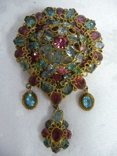 Stunning LRG Vintage 1940's Original by Robert Drippy Filigree Brooch Pendant | eBay