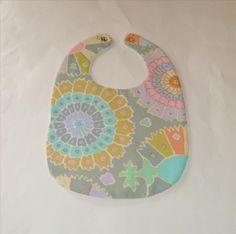 Beach Baby and Boho Reversible Bib, $8 | Pasque Flower Creations | Locabal.com #baby #bib