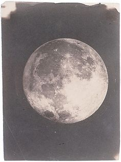 In December 1849, John Whipple made his first photograph of the moon, a daguerreotype taken through the telescope at the Harvard College Observatory in Cambridge.  Although he find not make the first lunar photograph in America, in terms of accuracy and aesthetics Whipple produced what were internationally recognized as the most sublime photographs of the moon.