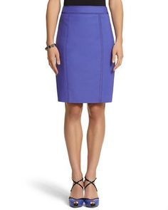 Pencil skirts feel sexy even though they're entirely professional. I have this one in teal, and now I want it in blue!