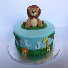Jungle Cake with Edible Lion Cake Topper!