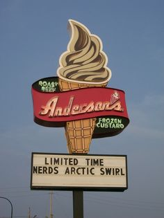Anderson's Ice Cream...a number of locations in WNY. This sign is from the original on Sheridan Drive in the Town of Tonawanda, NY