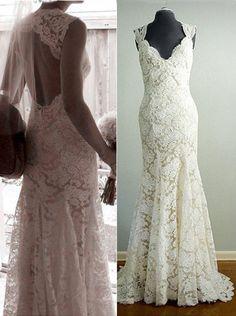 Wedding Dress,Mermaid Lace Wedding Dresses,Long Wedding Dresses,Wedding Dresses,Floor-length