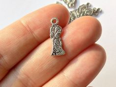 50 Praying Girl Charms - Double Sided - Tibetan Silver - #S0285 by StashofCharms on Etsy