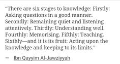 6 Stages to Knowledge