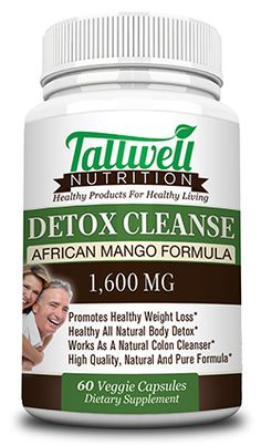 Detox Cleanse - African Mango Formula |  $17.99 | 1600mg | Healthy Diet, Weight Loss, Body Detox & Natural Colon Cleanser | Maximum Strength | Eliminate Toxins and Recharge Your Body | Clear Veggie Capsules - 60 Count | All Natural & Pure Formula - Ginger, Goldenseal, Acidophilus, Rhubarb, Aloe Vera Leaf, Prune Juice, Flax Seed , Senna Extract, Oat Bran and Many More Natural Cleansing Ingredients From Tallwell Nutrition(tm) www.tallwellnutrition.com