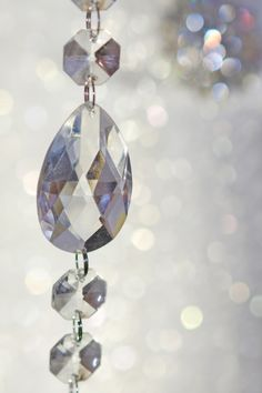 Clear hanging crystal garland