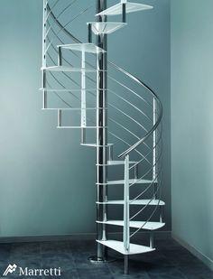 Escaleras de interior Flo, la nueva colección asequible de Marretti. FLO_160, escalera de caracol de acero