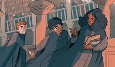 """sasmilledge: """"a harry potter print done to sell at conventions this year """""""