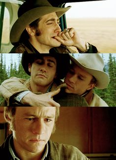 Jake Gyllenhaal and Heath Ledger had a tortured love in Brokeback Mountain.  Directed by Ang Lee.