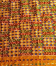 6 yards Ghana Kente/ original kente fabric / african fabric/ traditional kente/ handwoven kente/ Gold white kente/material for kente tie