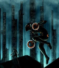 TRON: Legacy concept art. EOLC Recognizer docking, early version. You can see…