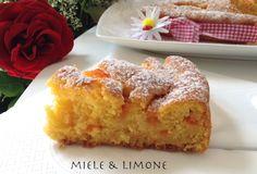 torta di albicocche fetta