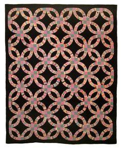 Double Wedding Ring Quilt Circa 1915 1925 Seen At Nebraska History