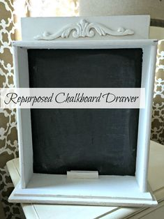 An easy project with great results! Repurposed Chalkboard Drawer   www.homeroad.net
