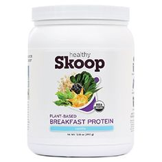 Healthy Skoop All-in-One Breakfast Protein Organic Nutritional Shake with Plant Based Protein and Fiber, Vanilla, 13.8 Ounces *** Click image to review more details.