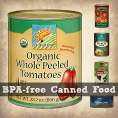 BPA-free Canned Food Collage