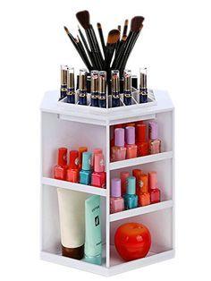 Homdox Tabletop Rotating Cosmetic Organizer Storage /Makeup Display Box  Holds Up 200 Pieces Homdox