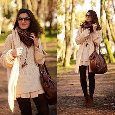 Cozy knit jacket (by Alexandra Per) http://lookbook.nu/look/2941157-cozy-knit-jacket