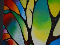 Original abstract painting abstract tree of life painting