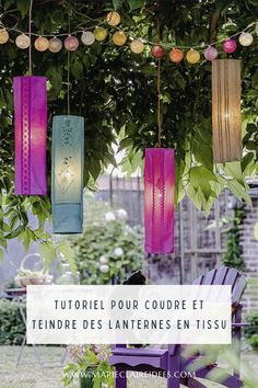 Illuminez votre extérieur ! Marie Claire, Glass Vase, Party Ideas, Table Decorations, Summer, Handmade, Diy, Home Decor, Gardens