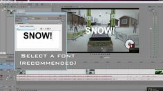 How to add animated text in sony vegas