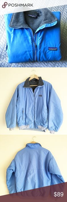 Patagonia Jacket UK 12 U.K. Size 12 is approximately a medium size. Great condition. No damage. Well cared for. Interior is grey fleece. Zipper pockets. Vintage. Patagonia Jackets & Coats Puffers