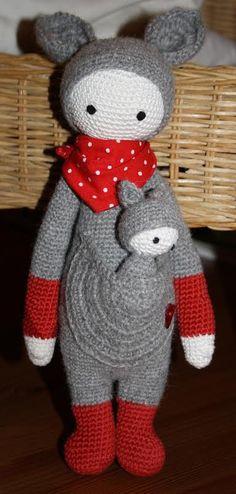 KIRA the kangaroo made by Daniela P. / crochet pattern by lalylala