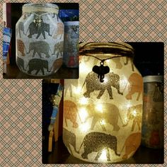 Check out this item in my Etsy shop https://www.etsy.com/uk/listing/510622883/elephant-upcycled-jar-decoupage-fairy