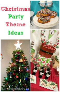 Christmas Party Themes (Secret Santa, Tree Trimming, Card Making...and many others!) www.momsandmunchkins.ca #Christmas