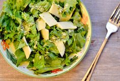 Simple lettuce salad with lemon parm